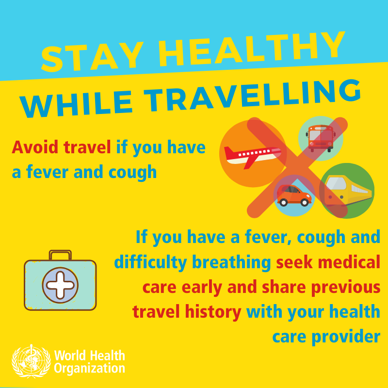 stay healthy while traveling. Coronavirus