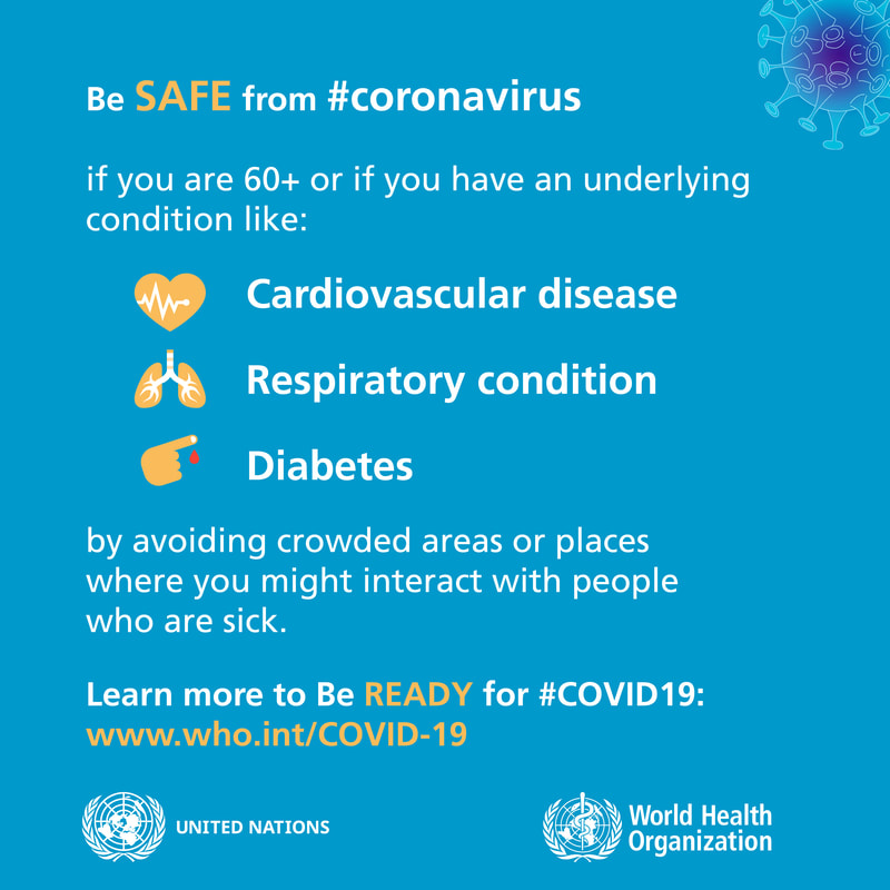 Be safe from coronavirus. WORLD HEALTH ORGANIZATION